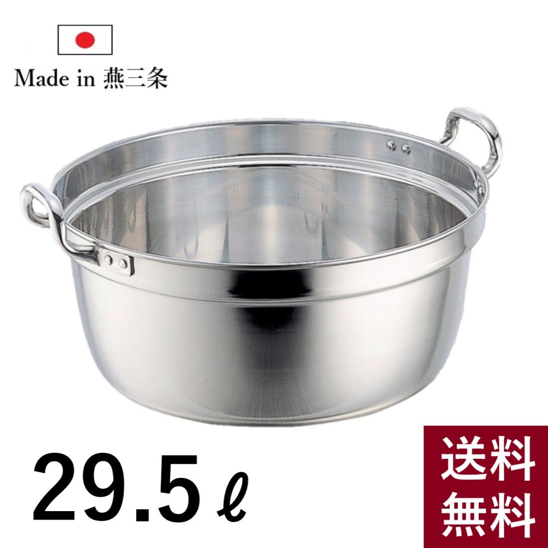 【10%offクーポン配布中!】料理鍋 ステンレス 両手鍋 深型 48cm SW 直火対応 家庭用 業務用 大容量 29.5L 鍋 大きい