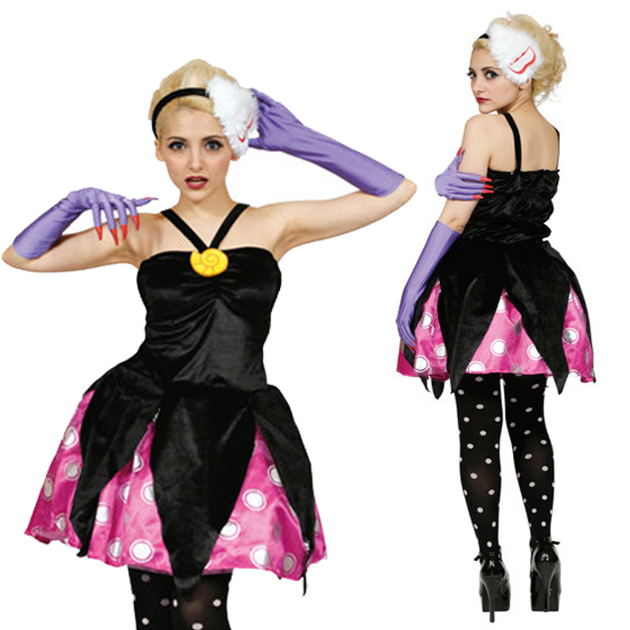 Disney adult character costume Disney villains / villain character! Costume Adult Ursula  sc 1 st  Rakuten : halloween villain costumes  - Germanpascual.Com