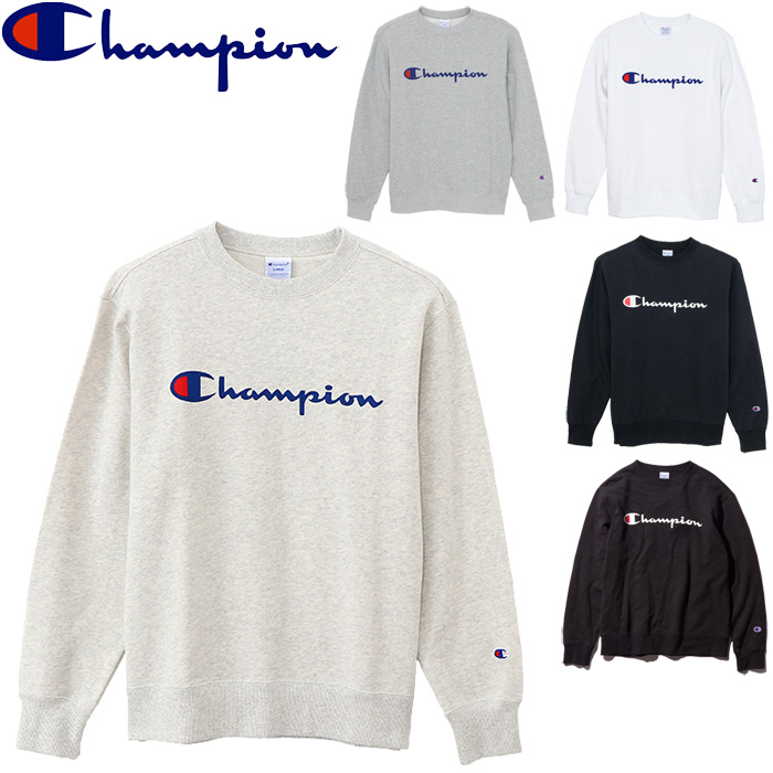 376edfcbbbbe All five colors of champion sweat shirt men crew neck C3-H004 trainer script  logo logo print basic sports house coat American casual roomsware tops  champion ...