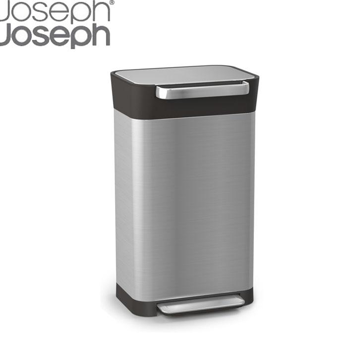 Joseph クラッシュボックス ゴミ箱 ダストボックス おしゃれ 30L 圧縮 ゴミを1/3に圧縮 ステンレス 脱臭フィルター エコ ゴミ袋 インテリア