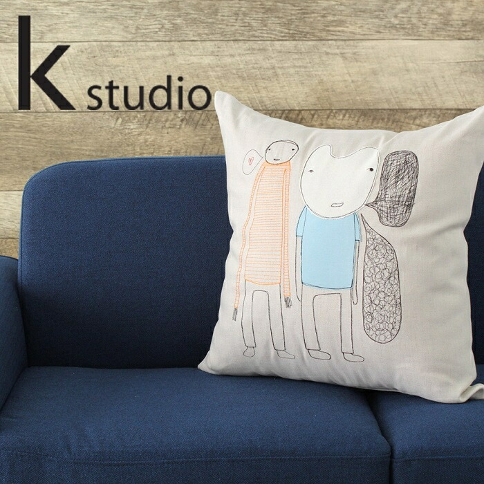 【送料無料】k studio ふきだし刺繍クッション ケースタジオ talk bubble pillow