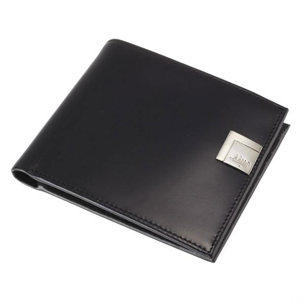 【全商品ポイント10倍】 Aaron Irvin アーロン・アーヴィン Leather Accessory 二つ折り 短財布 ショートウォレット 本革 ブラック AA-WLT