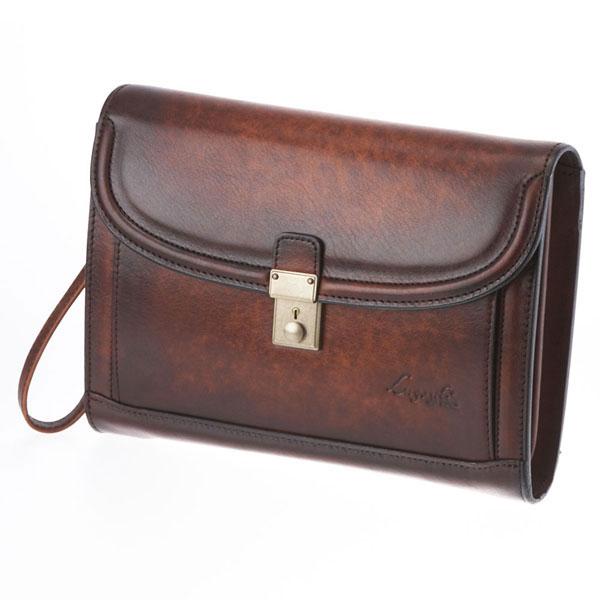 【全商品ポイント10倍】 LuggageAOKI 青木鞄 Lugard G3 ラガード ジースリー フラップ クラッチバッグ セカンドバッグ 日本製 本革 ブラウン 5217-50