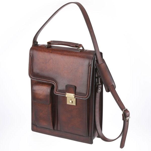 【全商品ポイント10倍】 LuggageAOKI 青木鞄 Lugard G3 ラガード ジースリー 縦型 2way ショルダーバッグ A4 日本製 本革 ブラウン 5221-50