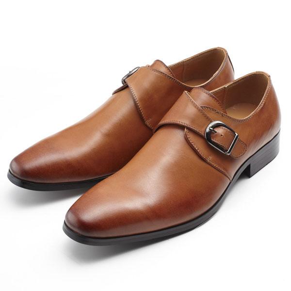 SARABANDE サラバンド ビジネスシューズ 紳士靴 ファクトリーアウトレット 革靴 激安セール 全商品ポイント10倍 24.5cm ライトブラウン 39サイズ 7763-LBR-39 本革 モンクストラップ