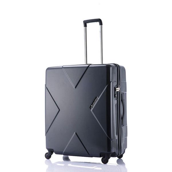【ポイント10倍 クーポン配布中】 HIDEO WAKAMATSU ヒデオワカマツ メガマックス スーツケース ハードキャリー 70cm 105L TSAロック 無料預け ブラック 85-75951