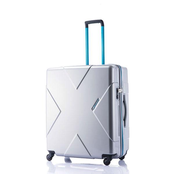 【ポイント10倍 クーポン配布中】 HIDEO WAKAMATSU ヒデオワカマツ メガマックス スーツケース ハードキャリー 105L 無料飛行機預け可能 最大級容量 シルバー 85-75955