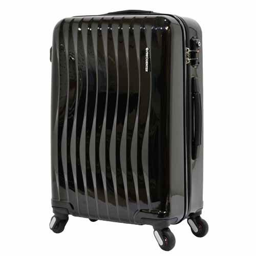 【全商品ポイント10倍】 エンドー鞄 FREQUENTER wave フリクエンター ウェーブ 超静音 4輪 ファスナー スーツケース 58cm 56L クロ 1-621-BK