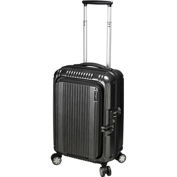 【全商品ポイント10倍】 BERMAS PRESTIGE II バーマス プレステージ2 フロントオープン 4輪 スーツケース ファスナータイプ 機内持込 TSAロック付 34L ブラック 60261-BK