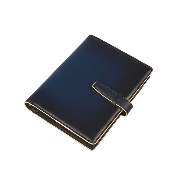 RYU'S ONE リューズワン 手帳 カバー 高品質 全商品ポイント10倍 服部 GG 本革 システム リング 6穴 ネイビー アウトレットセール 特集 154021-NV 15mm