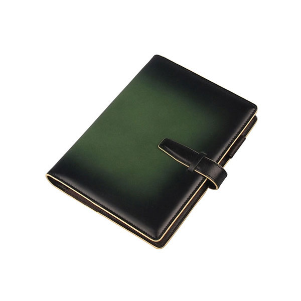 服部 RYU'S ONE リューズワン GG 本革 システム 手帳 カバー 15mm 6穴 リング グリーン 154021-GR