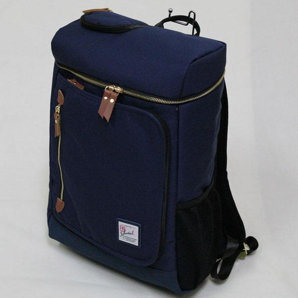 十川鞄 B.C.+ISHUTAL イシュタル フィール スクエア型 デイパック リュックサック ネイビー IFL-8507-NV