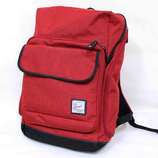 十川鞄 B.C.+ISHUTAL イシュタル ケーテン スクエア型 デイパック リュックサック レッド IKT-8507-RD