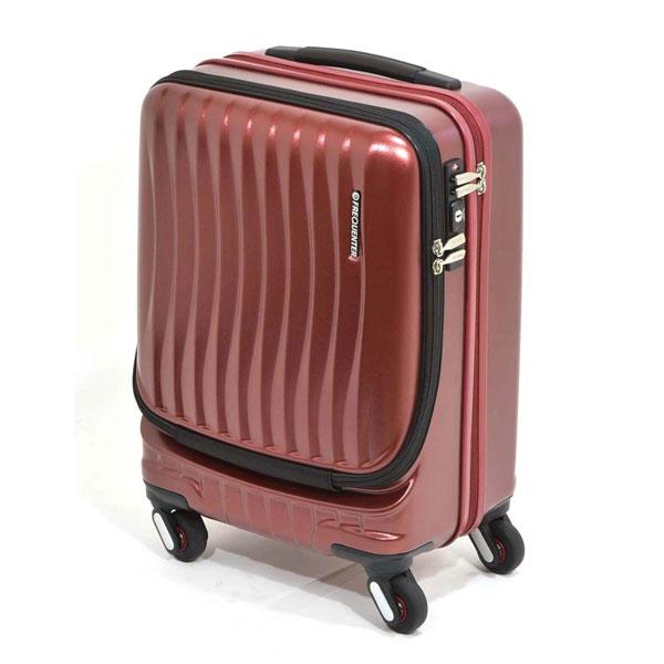 【ポイント10倍 クーポン配布中】 エンドー鞄 FREQUENTER CLAM ADVANCE フリクエンター クラム アドバンス 超静音 4輪 ハードキャリー スーツケース フロントオープン TSAロック ストッパー付き 機内持込 46cm 34L ワイン 1-216-WN