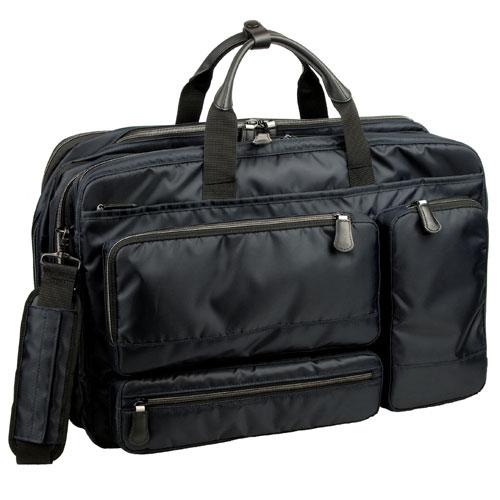 服部 RYU'S ONE リューズワン AD 軽量 2way ビジネス ショルダーバッグ ガーメントバッグ付属 2ルーム エキスパンダブル ネイビー 10-2502-NV
