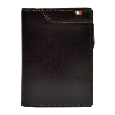 Milagro ミラグロ タンポナートレザー L字ファスナー 二つ折り 短財布 ショートウォレット イタリア製ヌメ革 チョコ CA-S-571-CH