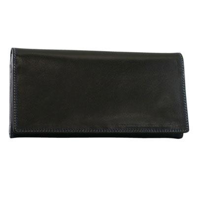 Milagro ミラグロ ミヌート Wステッチ 二つ折り 長財布 ロングウォレット 28ポケット イタリア製ヌメ革 ブラック HW-WL02-BK