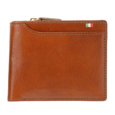 【全商品ポイント10倍】 Milagro ミラグロ タンポナートレザー 二つ折り 短財布 ショートウォレット 23ポケット イタリア製ヌメ革 ブラウン CA-S-572-BR