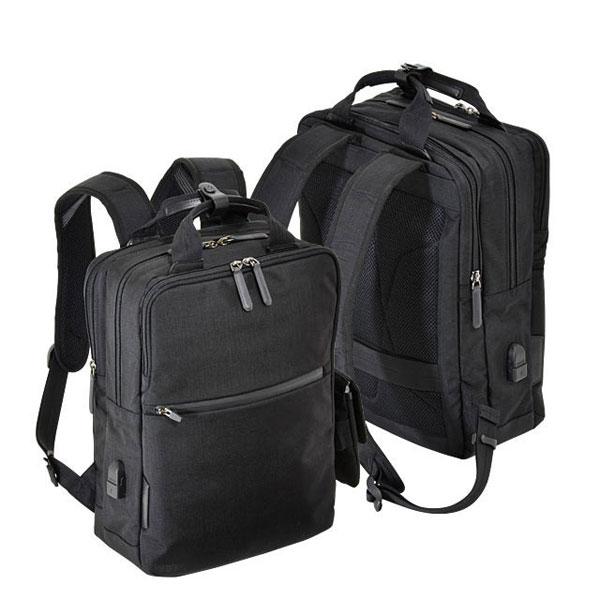 【ポイント10倍 クーポン配布中】 エンドー鞄 NEOPRO CONNECT ネオプロ コネクト ビジネス リュックサック バックパック USBポート ブラック 2-770-BK