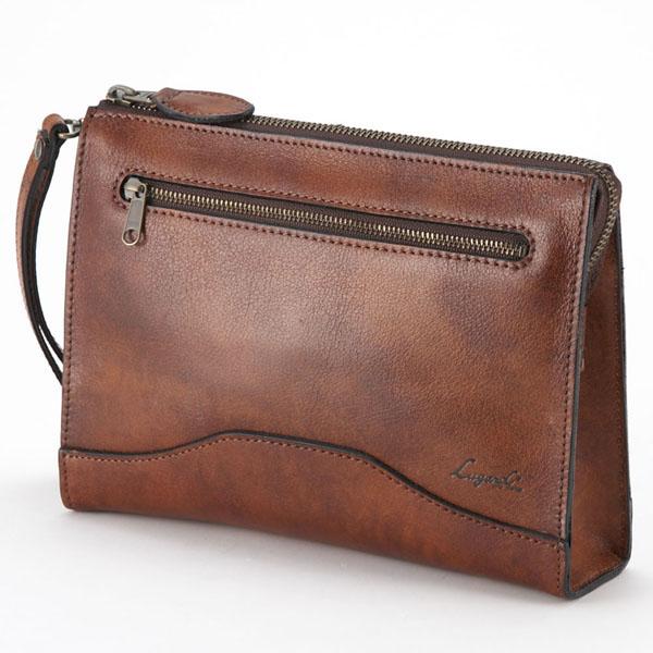 【全商品ポイント10倍】 LuggageAOKI 青木鞄 Lugard G3 ラガード ジースリー クラッチバッグ セカンドバッグ Mサイズ 日本製 本革 ブラウン 5212-50