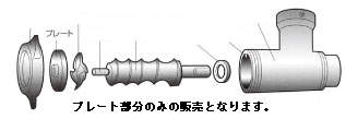 32用 【旧名:喜連ローヤル】 プレート ミートチョッパー 6.4mm ROYAL(アルファ・ローヤル)