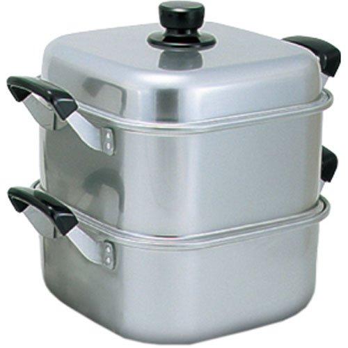アカオ アルミ 角型蒸器36cm 一重(蒸し器・蒸し鍋)