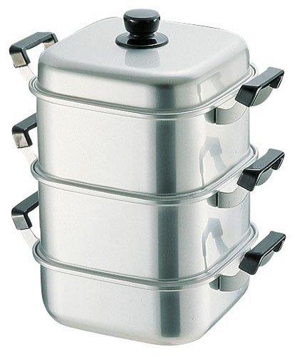 アカオ アルミ 角型蒸器36cm 二重(蒸し器・蒸し鍋)