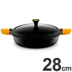 キャスティ IH対応 両手鍋 キャセロール 浅型 28cm