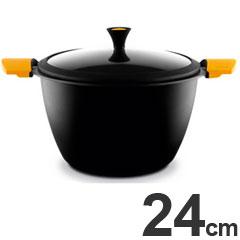 キャスティ IH対応 両手鍋 ストックポット 24cm