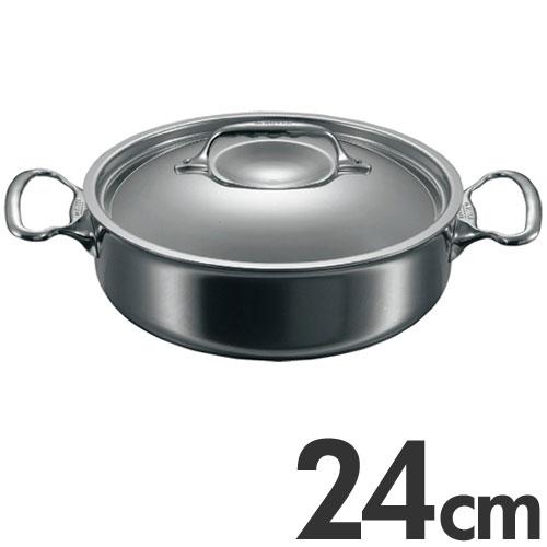 deBUYER Affinity デバイヤーアフィニティ IH対応 ソテーパン 蓋付 3741-24cm