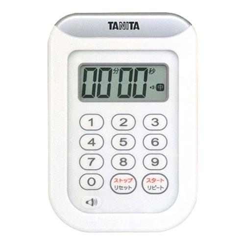 【北海道・沖縄以外は13000円以上で送料無料】 タニタ デジタルタイマー 丸洗いタイマー 100分計 TD-378 ホワイト