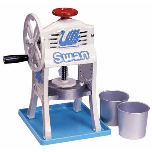 池永鉄工 スワン(Swan) ミニ手動式氷削機 ちいさな南極。 SI-2C ホワイト&ブルー