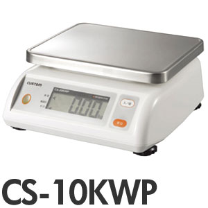 CUSTOM カスタム デジタル防水はかり CS-10KWP(キッチンスケール)