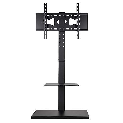UNHO テレビスタンド 32~60インチ対応 壁寄せテレビスタンド 首振り可能 高さ・角度調節 耐荷重30? 地震対策 液晶テレビ テレビ台 ハイタイプ コーナー 棚板付き tv stand