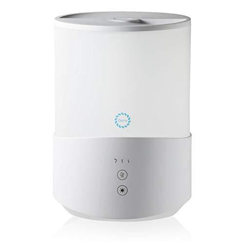 Qurra(Mois famil) 小型 加湿器 2.5L 超音波式 リビング 卓上 オフィス デスク 上部給水 アロマ対応 25W 150ml/h 6畳用 持ち運び 霧化器 ホワイト