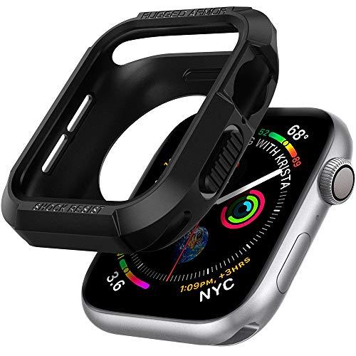 Spigen 年末年始大決算 Apple Watch ケース 即日出荷 40mm Series SE 6 5 4 対応 吸収 ラギッド 061CS24480 タフネスデザイン 落下 保護カバー 衝撃 アップルウォッチケース ブラック アーマー