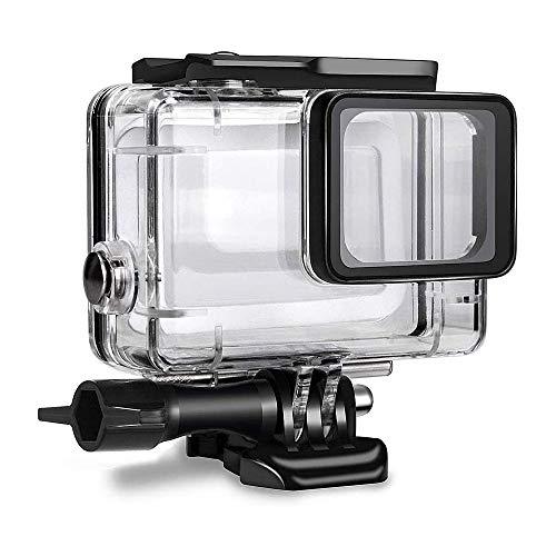 GoPro HERO 7 6 5 Black 人気上昇中 2018 45m水深ダイビング ダブルロック 感謝価格 防水防塵保護ハウジング 12x防曇水アタッチメントを含む ブラック対応 1xカメラレンズキャップ
