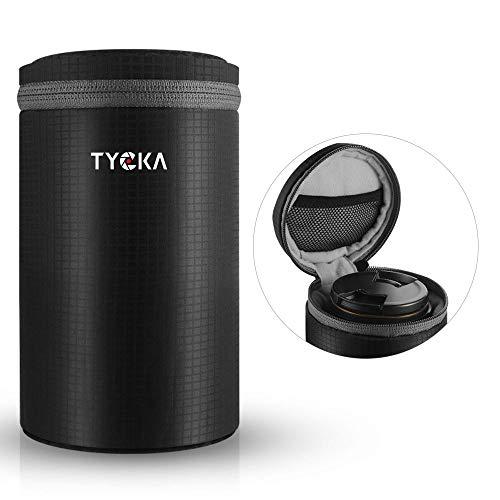 TYCKA 一眼フレカメラ レンズケース レンズ収納バッグ 10mm厚手 超美品再入荷品質至上 防水 一眼レフ等カメラレンズに対応 L-TK047 倉 レンズポーチ クッション性 デジタルカメラ ジッパー式