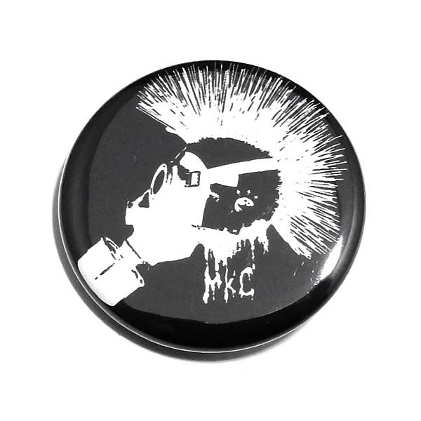 メール便 ゆうパケット 配送OK MONSTER KIDS オリジナル缶バッジ スパイキーモヒカンガスマスク 32mm ボディーピアス好きにおすすめ 1個 japan■ブラック■ボディピアス ロゴ■パンク■10P05Nov16 公式サイト KB-31■made ■英語■怪物■ファッション雑貨■バッチ■バッヂ■ばっじ in 発売モデル