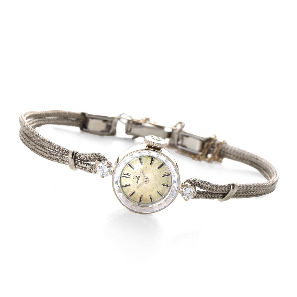 オメガ【1960年代】ラウンド カットガラス ラグダイヤモンド