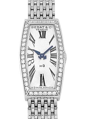 ベダ&カンパニー 386.031.600 レディース No.3 ヘキサゴン ベゼルダイヤモンド SS 白文字盤 クォーツ ブレスレット