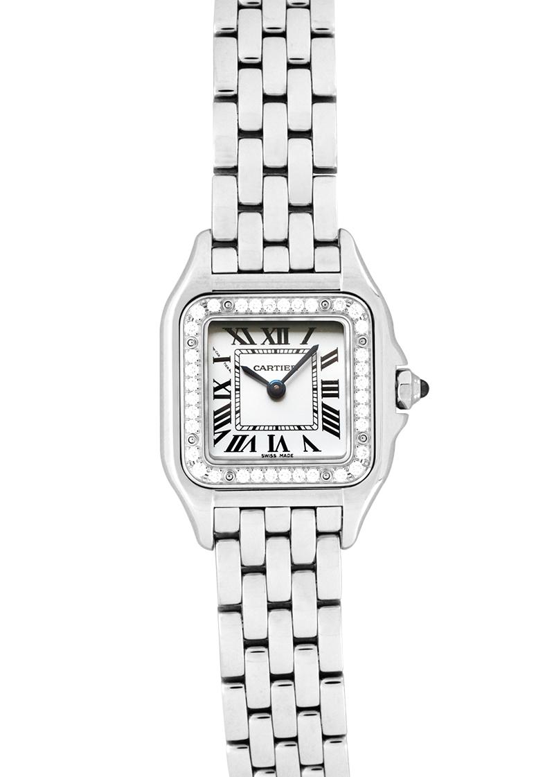 super popular eb01a 1682d Cartier W4PN0007 Lady's bread tail do Cartier diamond bezel SM SS silver  clockface quartz bracelet