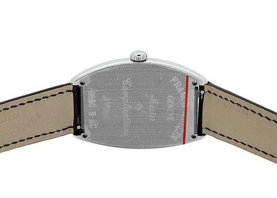 フランクミュラー 6850SC トノーカーベックス SS シルバー文字盤 自動巻き レザー