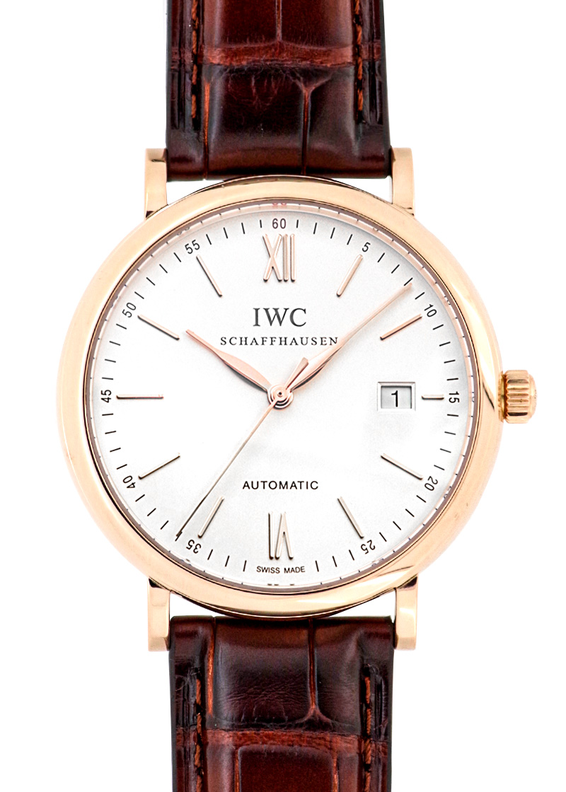 IWC IW356504 ポートフィノ PG シルバー文字盤 自動巻き レザー