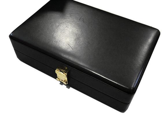 オービタ Verona 8 コレクションボックス 8本収納 ブラック レザーYfy6b7g