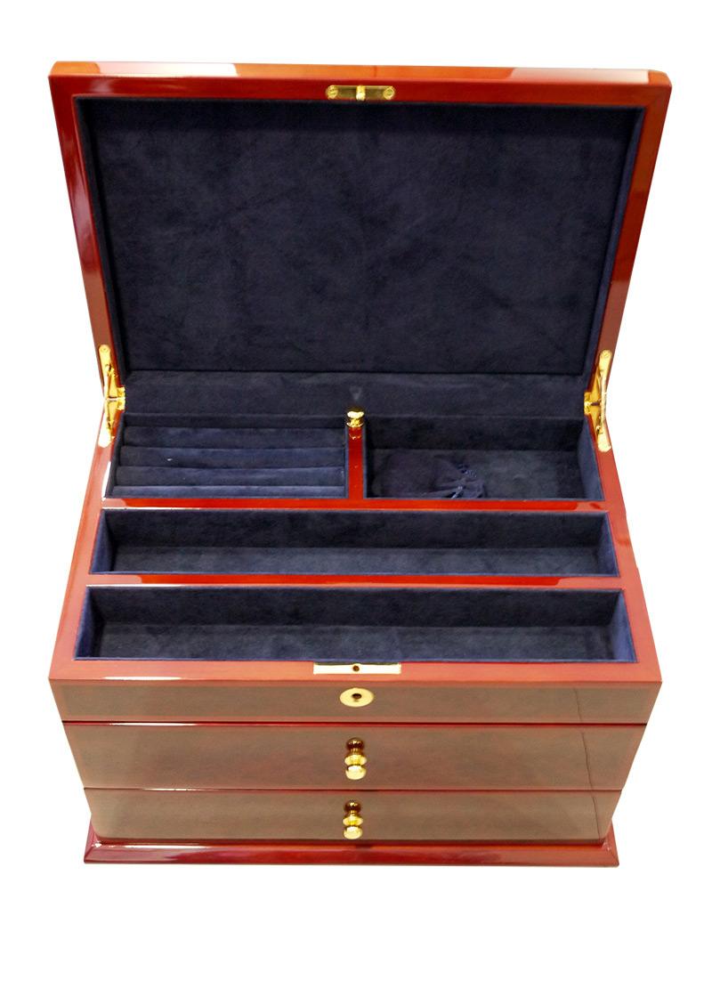ブーベン&ゾルウェッグ コレクションボックス 18本収納 3段タイプ ウッド