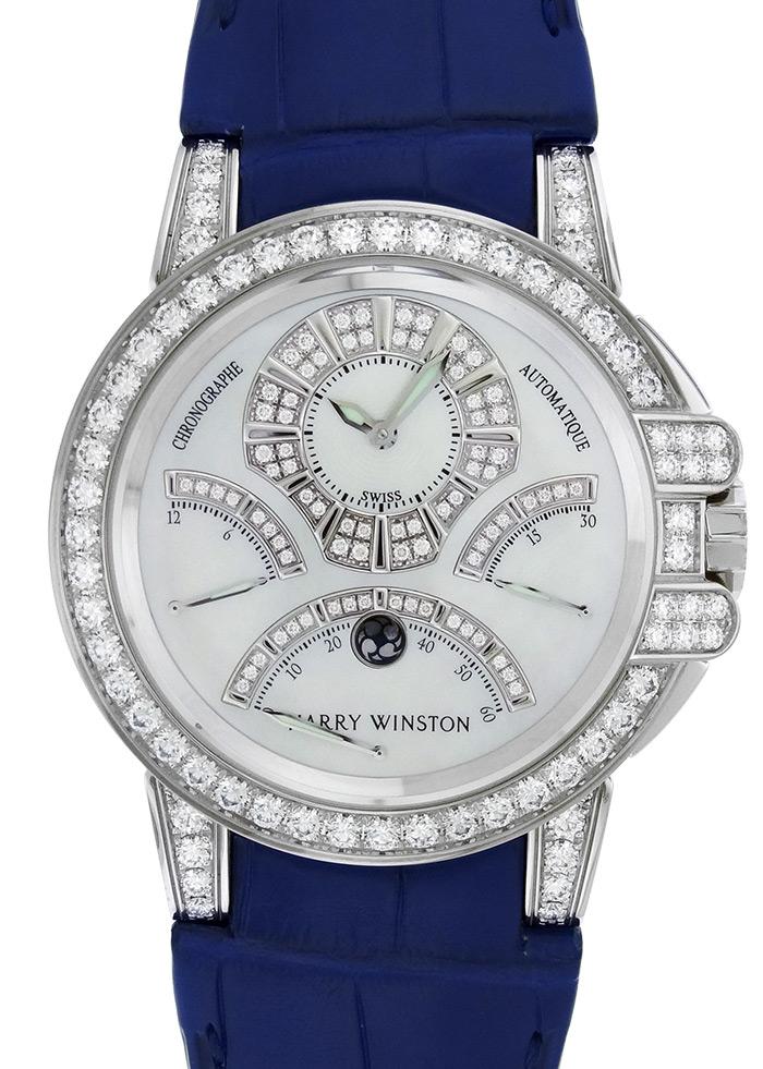 HARRY WINSTON【ハリーウィンストン】 OCEACT44WW002 腕時計 /18Kホワイトゴールド メンズ