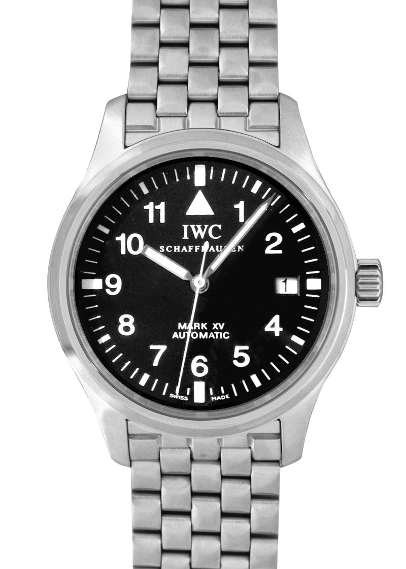 【中古】IWC IW325307 マークXV SS 黒文字盤 自動巻き ブレスレット