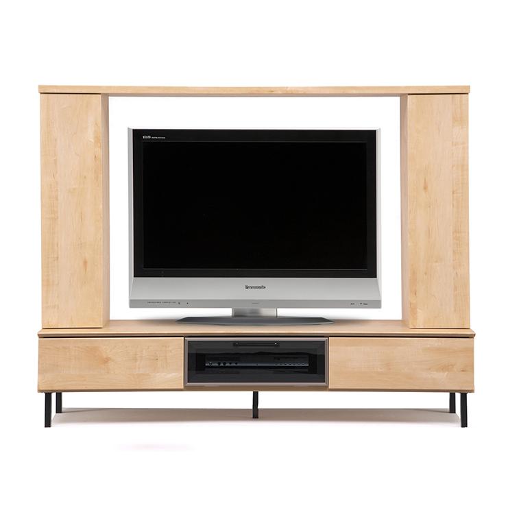 【完成品 日本製 送料無料】 テレビ台 ロード 幅180 奥行40 高さ140 テレビボード ナチュラル メープル