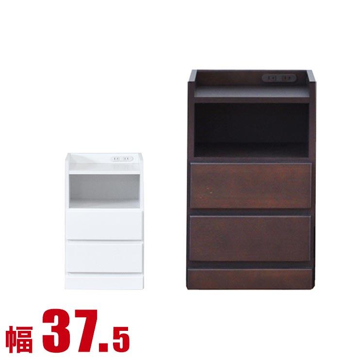 すきま家具 わずかなすき間を有効活用 すきま収納 スコラ 幅37.5 奥行30 高さ59.5 ホワイト ブラウン すき間収納 サイドキャビネット 完成品 日本製 送料無料